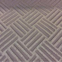 Материал для штор в Москве из атласа Арт: 2536/43. Фотография портьерной ткани из итальянского каталога. Геометрический объёмный рисунок золотистого оттенка и цвета какао