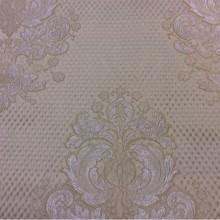 Элитная портьерная ткань из жаккарда Арт: 1320B, col 8. Итальянский каталог. «Дамаски» в серебристо-кремовых тонах