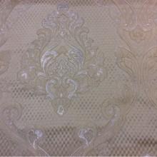 Ажурная ткань для штор в интернет-магазине Москвы Арт: 1320A, col 8. Итальянский каталог ткани. Ажурные «дамаски» в  серебристо-кремовых тонах
