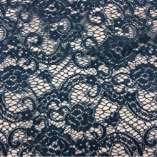 Кружево для штор в Москве Liana 1101, col 107. Турецкий каталог тюля. Ажурная ткань (кружево) тёмно-синего оттенка
