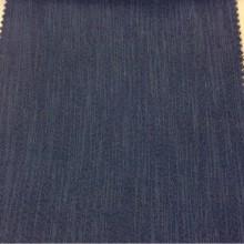 Ткань блэкаут с вертикальными хаотичными рисками синего джинсового оттенка Ibiza, col 62. Италия, портьерная, плотная, непроницаемая ткань для штор.