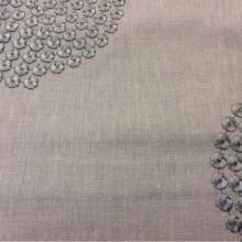 Ткань с хлопковой нитью в современном стиле Beads, col Boudoir. Бельгия, портьерная ткань для занавесок. На розовато-сером фоне абстрактные круги цвета титан