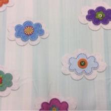 Купить детскую ткань для штор в Москве Twister Iris C, col Turquesa 98. Испанская портьерная ткань. Разноцветные цветы