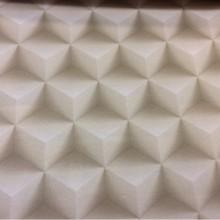 Купить 3D ткань в интернет-магазине Geometric, col 35. Испанский каталог плотной, портьерной ткани для штор. Объёмный абстрактный рисунок в бежевых и кремовых оттенках