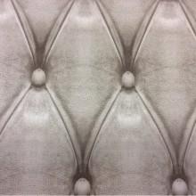 Купить ткань с трехмерным рисунком кожи Geometric, col 13. Испанский каталог ткани для штор. Имитация кожаного покрытия в серо-бежевых оттенках