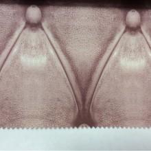 Купить ткань в стиле лофт, нео-классика, нео-модерн в Москве Geometric, col 24. Испанский каталог портьерной ткани. Имитация кожаного покрытия брусничного оттенка