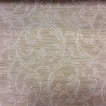 Заказать жаккардовую портьерную ткань кремового цвета с растительным орнаментом в Москве, Top Milana, col 020, Бельгийский каталог ткани для штор на заказ.