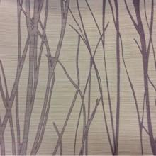 Купить жаккардовую портьерную ткань бежевого цвета с растительным рисунком, сиреневыми ветвями, Top Marlena, col 110, Бельгийский каталог ткани на заказ.