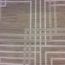Купить жаккардовую портьерную ткань цвета табака с геометрическим рисунком  в  интернет-магазине Top Mancy, col 150, Бельгийский каталог ткани для штор