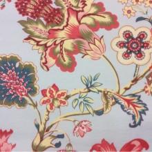 Красивая ткань из хлопка в ярких оттенках в стиле пейсли Москва Azov Pik, des: Camberley A, col: 95 coral, Испанский каталог  портьерной ткани