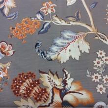 Красивая ткань из хлопка с ярким орнаментом в стиле пейсли на заказ Azov Pik, des: Camberley A, col: 07 Naranja, Испанский каталог ткани для портьер.