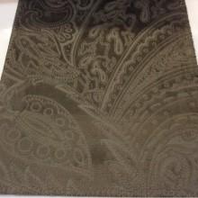 Заказать красивый бархат с теснённым орнаментом в стиле пейсли, ширина 141 см, Murcia, col 08, Бельгийский каталог ткани для штор на заказ.