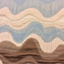 Рельефная ткань в восточном стиле с вискозной нитью на заказ в интернет-магазине в Москве и МО, Гибкие абстрактные линии в бежевых, голубых, коричневых оттенках, Высота 3 метра, Samarkand, col 20, Итальянский каталог ткани для штор на заказ.
