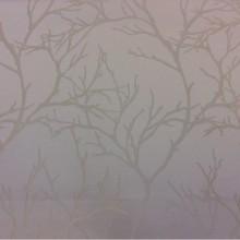 Купить атласную ткань с растительным рисунком из хлопка, Ветви ванильно-кремовых оттенков, 2525/11, Итальянский каталог ткани средней плотности для штор на заказ.