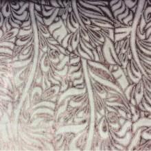 Купить набивной бархат с добавлением хлопка, Густая растительная абстракция в тёмно-розовых тонах, 2539/43, Итальянский каталог ткани.