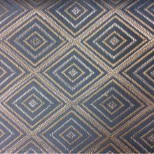 Купить плотную атласную ткань с геометрическим рисунком, Ромбы (5 см) в серебристо-голубых оттенках, Высота 3,0, 2384/41, Франция.