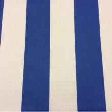 Купить портьерную ткань «под лён» в интернет-магазине, Чередование белыйх и синих полос (5см), Navy Stripe, col 1003, Турецкий каталог ткани для штор на заказ.