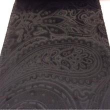 Купить красивый бархат с теснённым орнаментом в стиле пейсли, ширина: 141 см, Murcia, col 03, Бельгийский каталог ткани для штор.