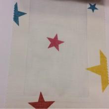 Купить тюлевую ткань из хлопка для детской комнаты, Super Star Visillo, col Turquesa 23, Испанский каталог тюлевой ткани для штор на заказ.