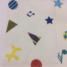 Тюлевая ткань из хлопка для детской комнаты, Super Circus Coor. C Lace, col Unice 09, Испанский каталог тюлевой ткани для штор на заказ.