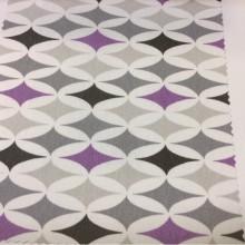 Портьерная ткань из хлопка с интересным абстрактным рисунком на заказ в интернет-магазине, Абстрактные разноцветные ромбы, Super Izimi Coor Hp, col Gris, Испанский каталог ткани для штор.