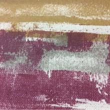 Купить портьерную плотную ткань из хлопка в современном стиле, Абстрактный рисунок в горчичных, розовых и серых оттенках, Высота 2,80, Super Zamo-A, col Vino 17, Испания.