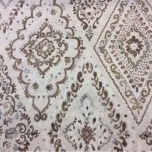 Портьерная плотная ткань из хлопка в классическом стиле, На светлом фоне тёмно-бежевые «дамаски», Высота 2,80, Super Bebe-A, col Beig 30, Испанский каталог ткани для штор на заказ.