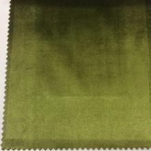 Роскошный однотонный бархат, Цвет травяной, Арт: 2419/51, Италия.