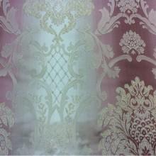 Жаккардовая ткань  с люрексной нитью и выпуклым эффектом на заказ в интернет-магазине, Ажурные «дамаски» в розово-бежевых тонах, Ширина 2,80, Арт: 1401A, col 2, Итальянский каталог ткани для пошива штор на заказ.