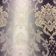 Заказать жаккардовую ткань с люрексной нитью и выпуклым эффектом в интернет-магазине, Ажурные «дамаски» в бежевых и тёмно-шоколадных тонах, Ширина 2,80, Арт: 1401A, col 4, Итальянский каталог ткани для пошива штор на заказ.