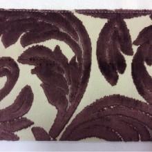 Натуральная ткань с бархатной набивкой и растительным орнаментом, Ширина 1,40, Bosco, col 07, Италия.
