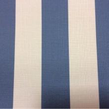 Купить портьерную ткань «под лён», Чередование белых и голубых полос (5см), Ширина 1,50, Navy Stripe, col 1004, Турецкий каталог портьерной ткани средней плотности для пошива штор на заказ.