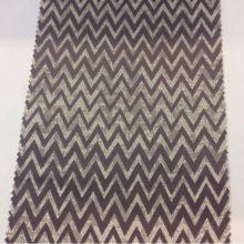 Атласная портьерная ткань с геометрическим рисунком средней плотности Liana Runa, col 110. Каталог бельгийской ткани для штор. Серебристо-фиолетовый оттенок