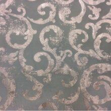 Портьерная ткань в бирюзово-серебристых оттенках