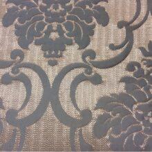 Портьерная плотная ткань из хлопка в серо-бронзовых оттенках