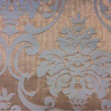 Портьерная плотная ткань из хлопка в золотисто-бирюзовых оттенках