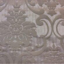 Портьерная плотная ткань из хлопка в ванильно-серебристых оттенках