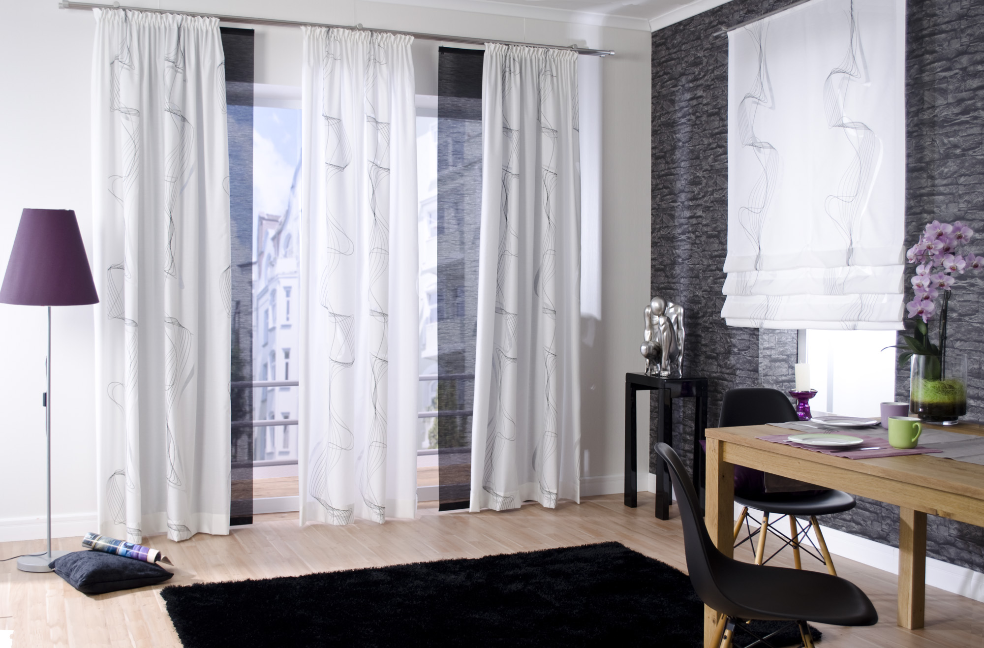 Легкие белые шторы