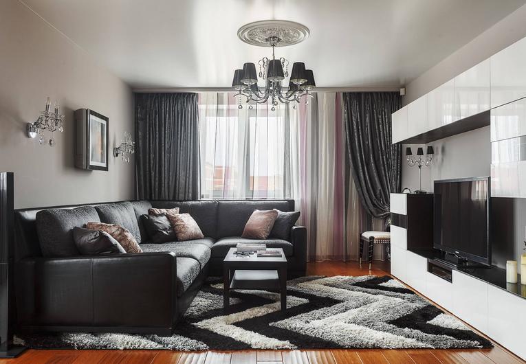 Черная ткань для штор