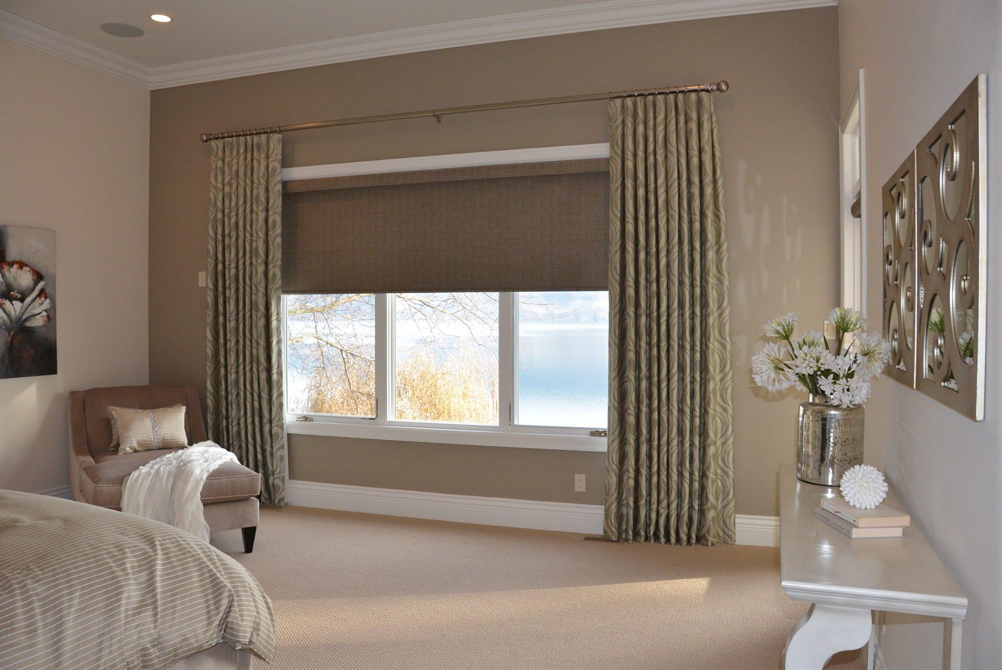 Рулонные шторы блэкаут для спальни