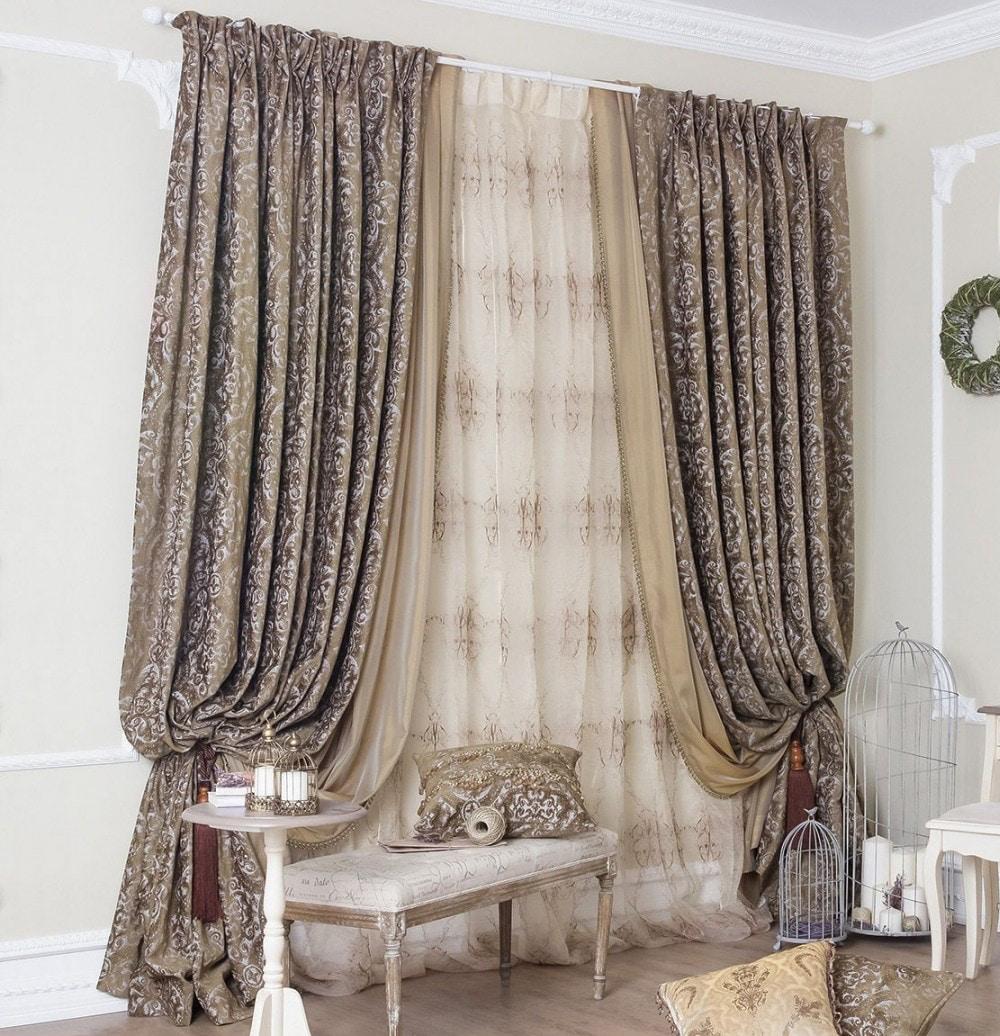 Ткань с вышивкой для штор