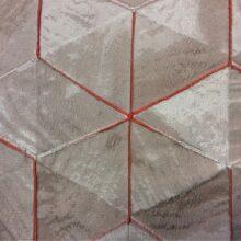 Жаккардовая ткань с выпуклым геометрическим рисунком в современном стиле