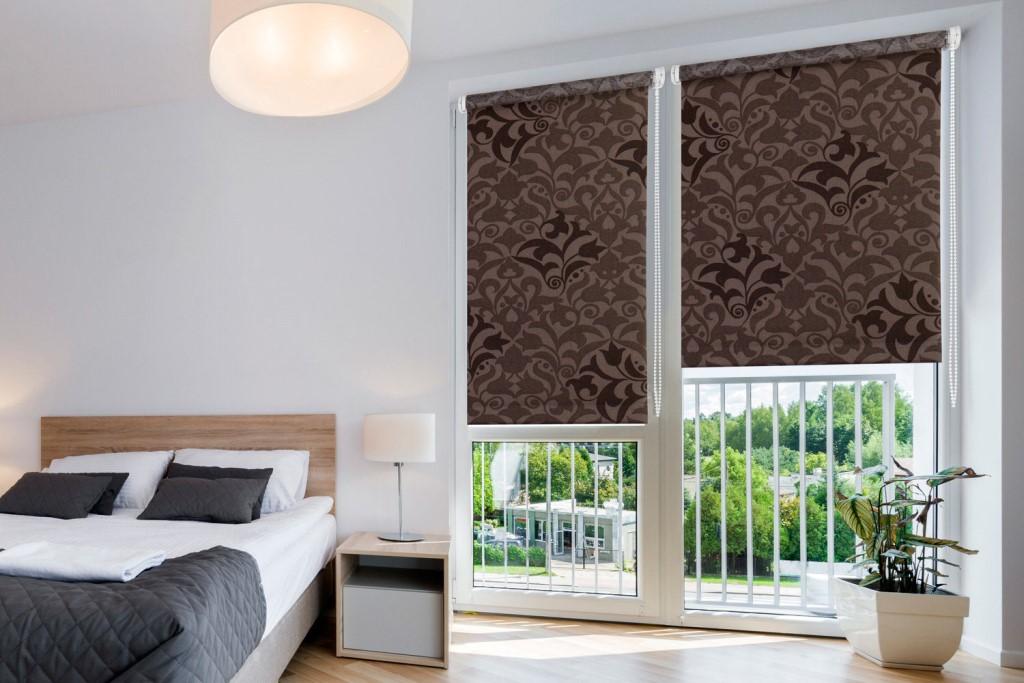 Ткань с вышивкой для рулонных штор