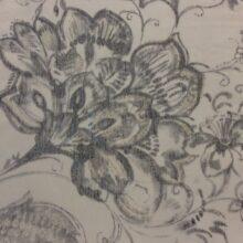 Тюлевая ткань из тонкого батиста с нанесением ажурной флористики