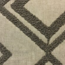 Портьерная ткань из льна с буклированным геометрическим рисунком