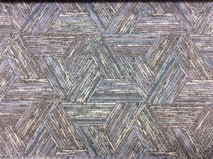 Бирюзово-коричневая портьерная ткань из хлопка