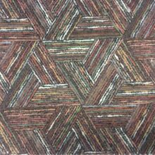 Терракотово-зелёная портьерная ткань из хлопка