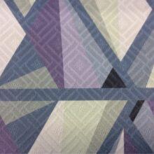 Фиолетово-зелёная портьерная ткань из хлопка