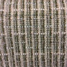 Рогожка в винтажном стиле в белых и зелёных оттенках