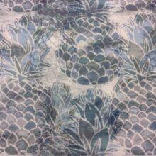 Портьерная ткань из хлопка в сине-серых оттенках